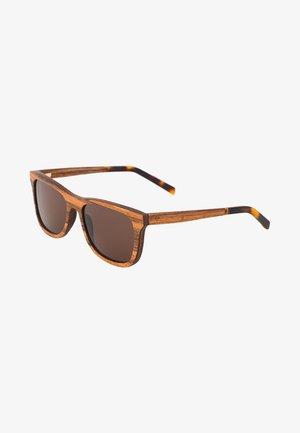 JUSTUS - Sunglasses - zebrano/solid brown