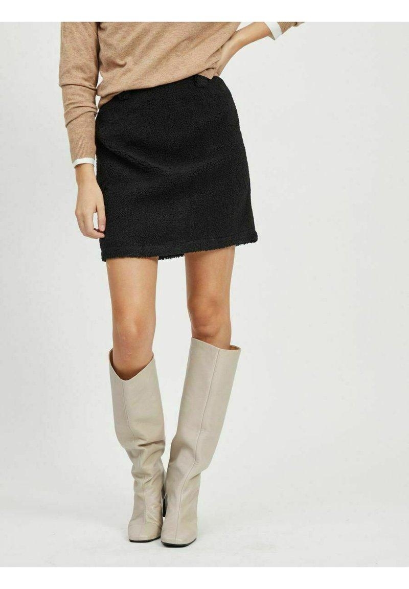 Object - A-line skirt - black