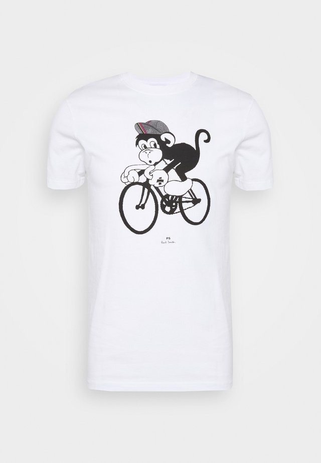 BIKE MONKEY - T-shirt imprimé - white