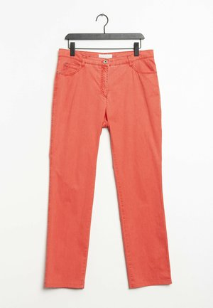 Straight leg jeans - orange