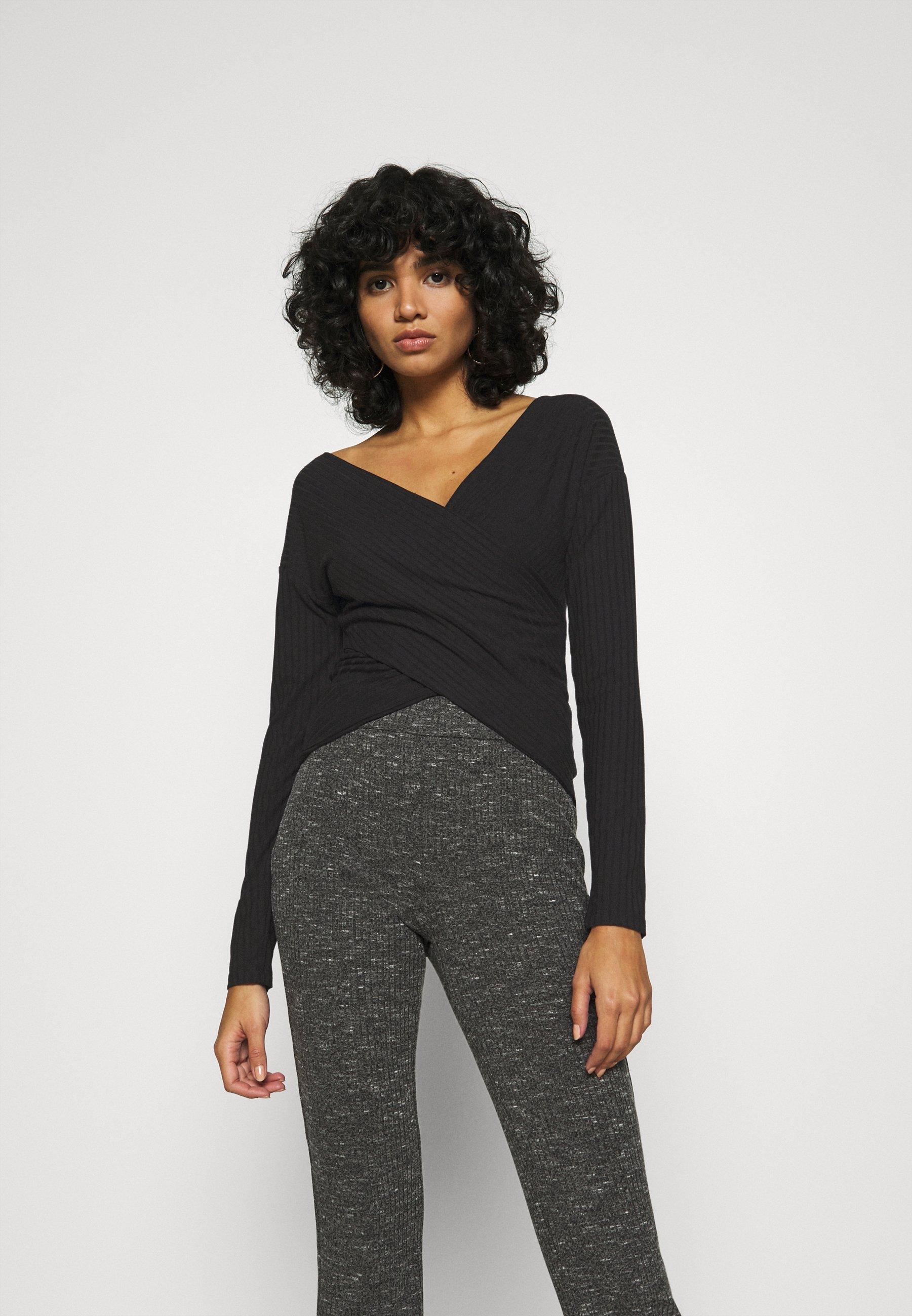 Women CRISS CROSS SHOULDER - Long sleeved top