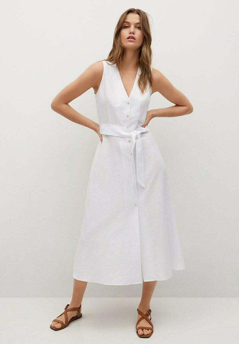 Mango - Shirt dress - white