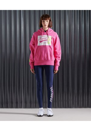 SUPER 5 DECONSTRUCT - Sweat à capuche - neon pink