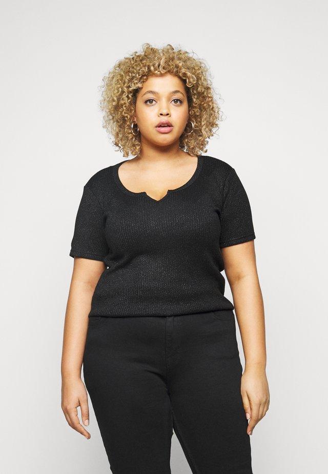 PCDIVI - T-shirt con stampa - black