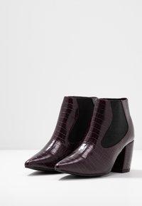 Bianco - BIACANDY TILT CHELSEA - Ankle boot - burgundy - 4