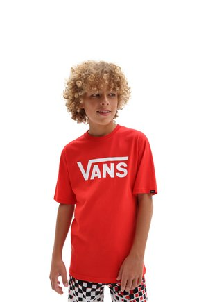 BY VANS CLASSIC BOYS - Print T-shirt - high risk red/white