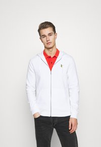 Lyle & Scott - Huvtröja med dragkedja - white - 0