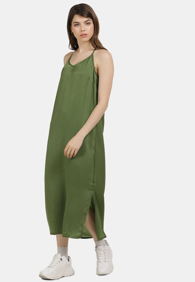 Maxi šaty - oliv