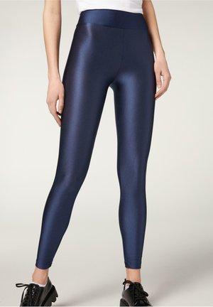 SUPERGLÄNZENDE LEGGINGS - Leggings - Trousers - blu shine