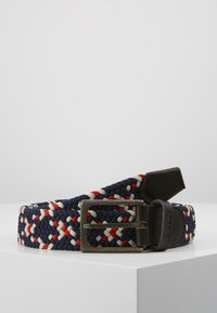 Barbour - FORD BELT - Pásek - red/navy/ecru - 0