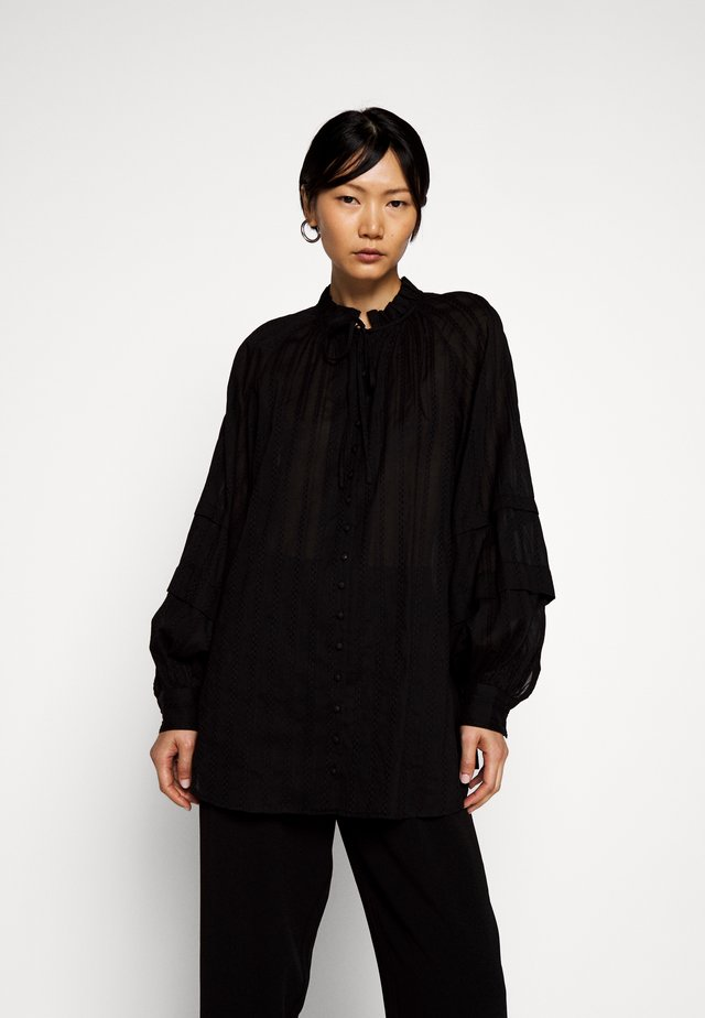 ARISSA - Button-down blouse - black