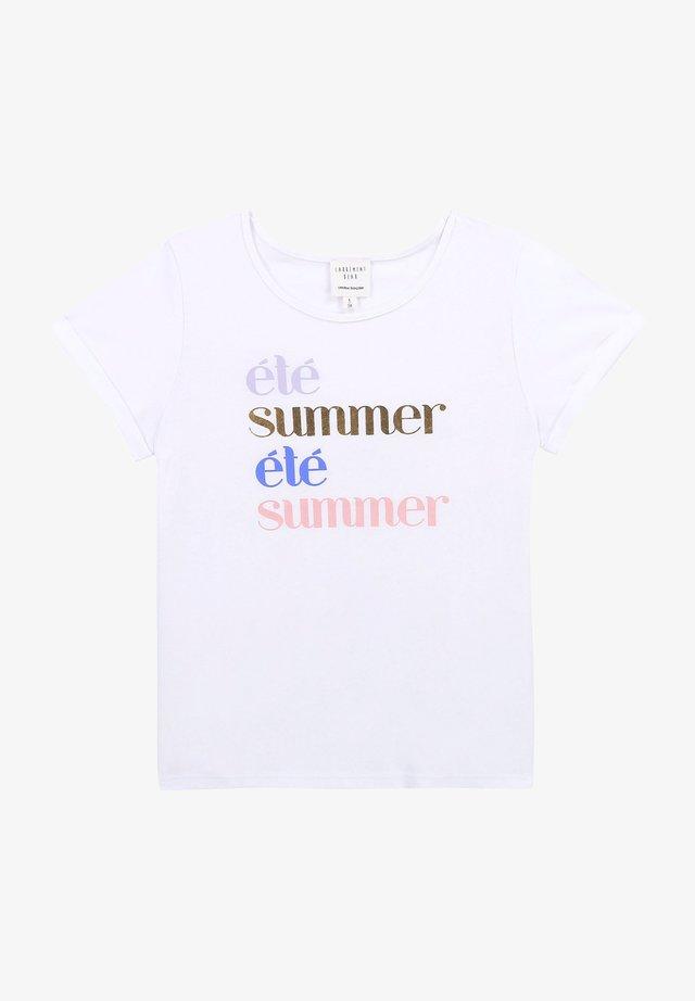 T-shirt imprimé - blanc dore