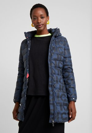 PADDED LETRAS - Cappotto invernale - navy