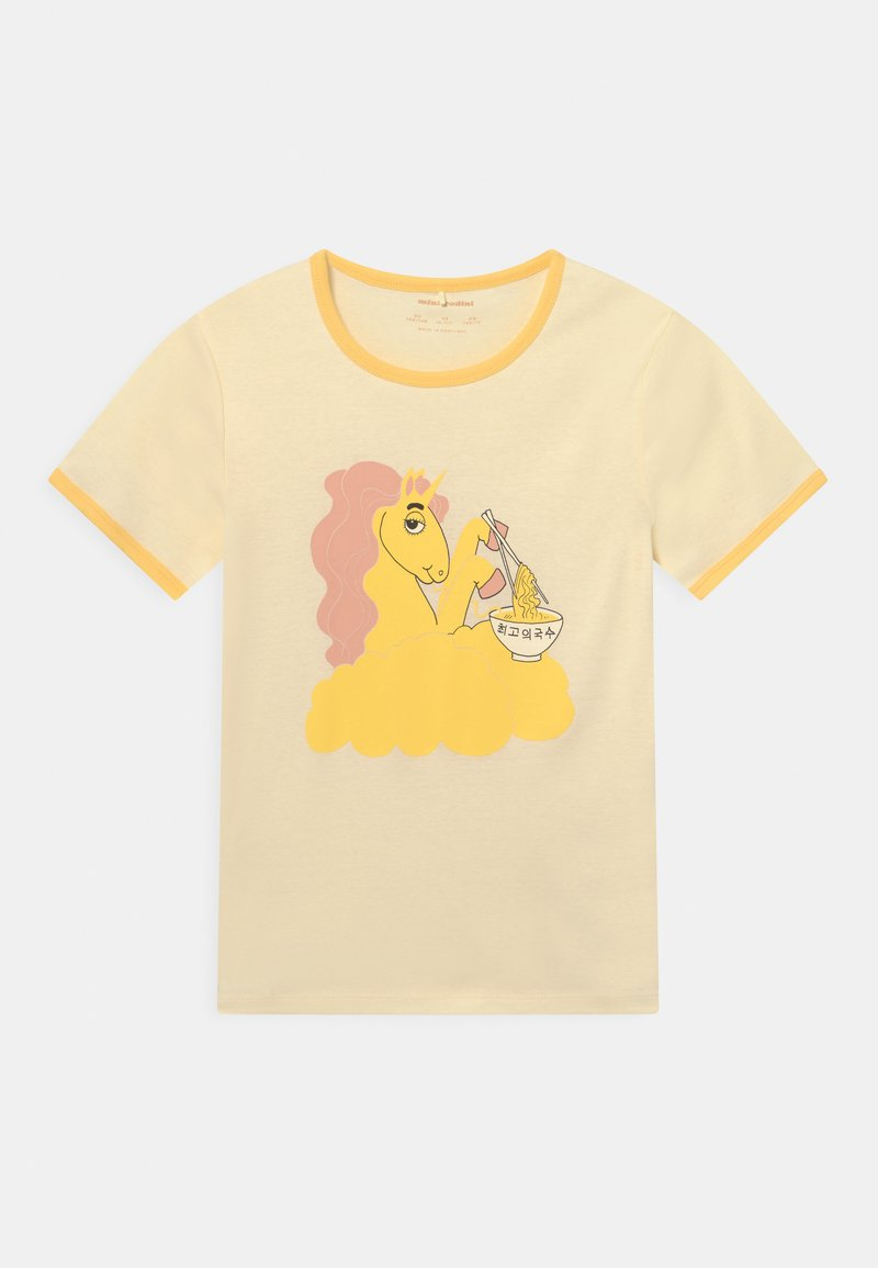 Mini Rodini - UNICORN NOODLES UNISEX - T-shirt con stampa - yellow