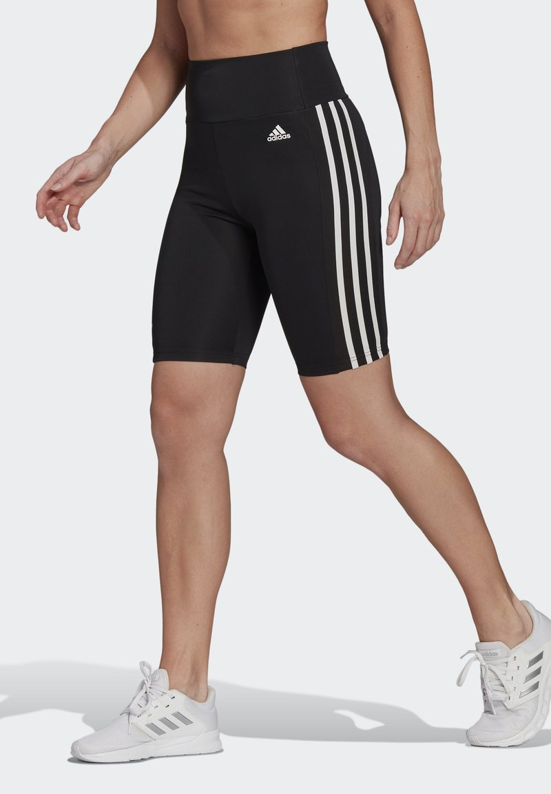 adidas Performance - DESIGNED TO MOVE HIGH-RISE SHORT SPORT TIGHTS - Medias - black/white