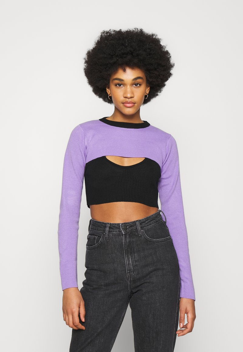 The Ragged Priest - DOUBLE LAYER - Maglione - black/lilac