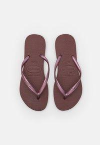 Havaianas - SLIM - T-bar sandals - grape wine - 5