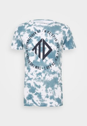 BATIK ALLOVERPRINT - T-shirt z nadrukiem - blue/white