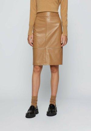 Pencil skirt - light brown