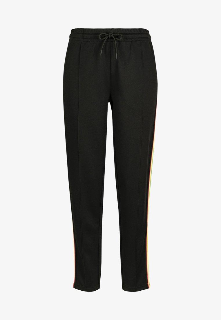 Urban Classics - DAMEN LADIES SIDE TAPED TRACK PANTS - Tracksuit bottoms - black