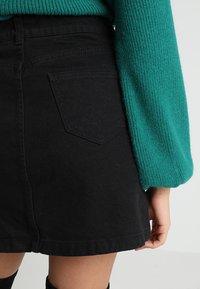 New Look Petite - BUTTON SKIRT - A-line skirt - black - 5