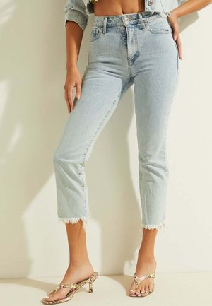 IMPRIMÉ BAS COUPE À CRU - Straight leg jeans - bleu ciel