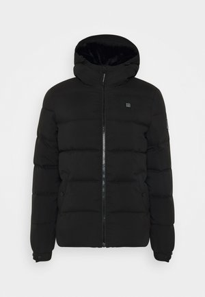 WITH HOOD - Winterjas - black