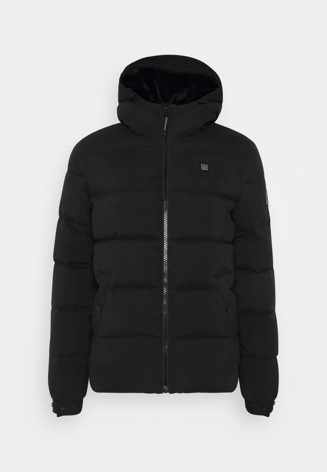 WITH HOOD - Winter jacket - black