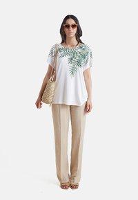 Elena Mirò - Print T-shirt - bianco - 1