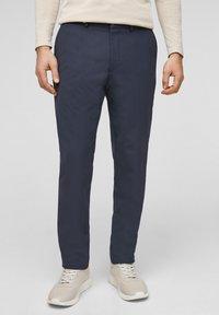 s.Oliver BLACK LABEL - MIT HYPERSTRETCH - Suit trousers - dark blue - 0