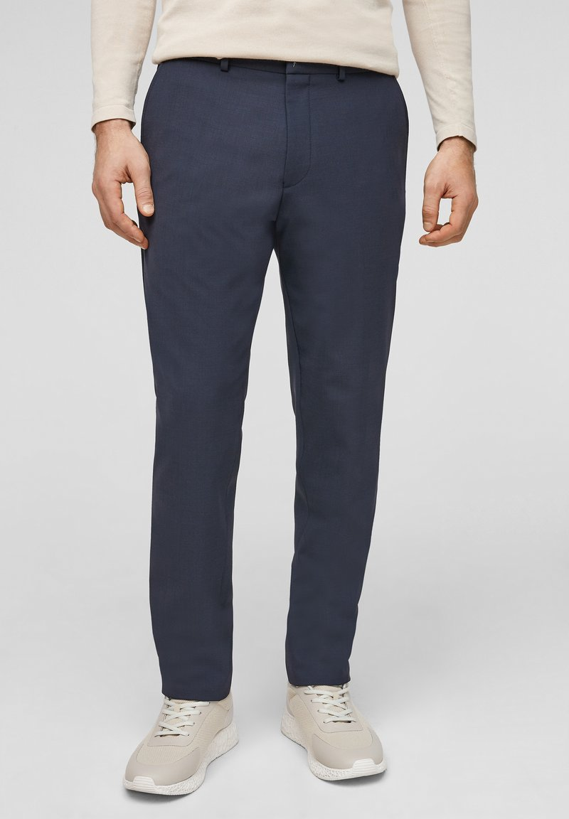 s.Oliver BLACK LABEL - MIT HYPERSTRETCH - Suit trousers - dark blue