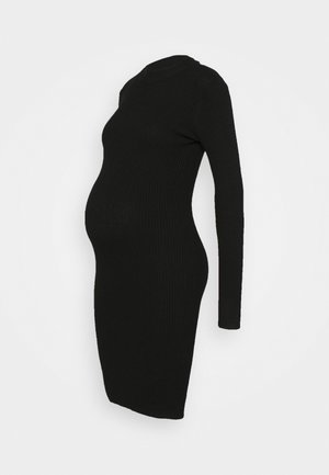 KNIT DRESS maternity - Vestido de tubo - black