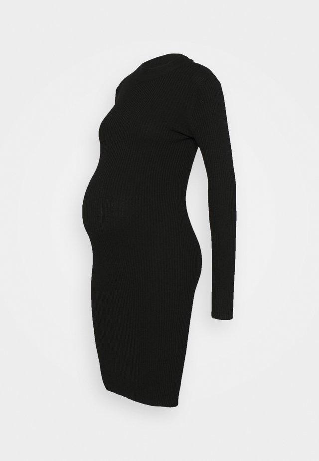 KNIT DRESS maternity - Etui-jurk - black