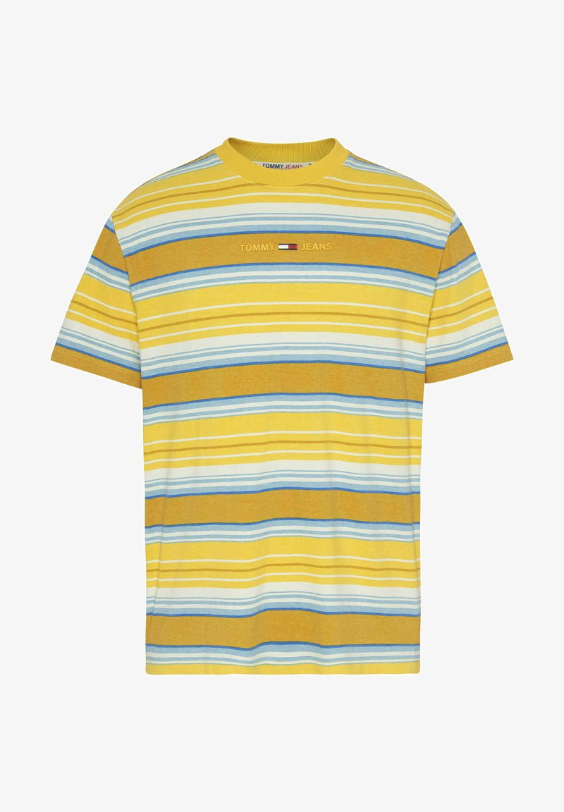 Tommy Jeans - MULTISTRIPE LAYOUT - Print T-shirt - gelb