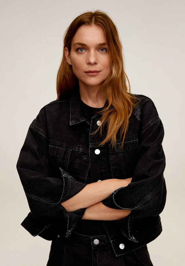 FIONA - Denim jacket - black denim