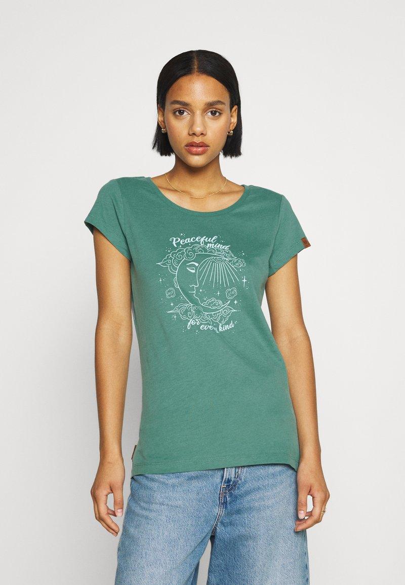 Ragwear - Print T-shirt - dusty green