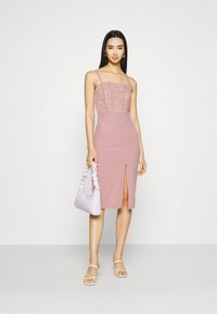 WAL G. - LIZZY MIDI DRESS - Sukienka z dżerseju - blush pink - 1