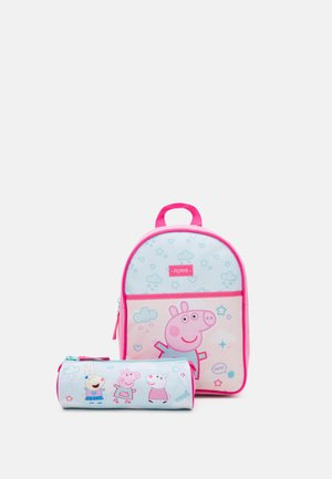 BACKPACK PEPPA PIG ROLL WITH ME SMALL AND PEPPA PIG PENCIL CASE SET - Batoh - pink