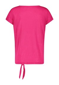 Gerry Weber - MIT KNOTENDDETAIL - Print T-shirt - rasberry - 3