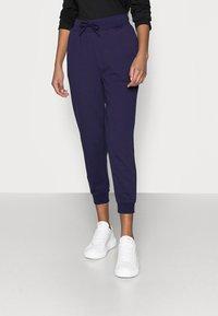 Even&Odd Petite - 2 PACK - Pantalon de survêtement - black/blue - 4
