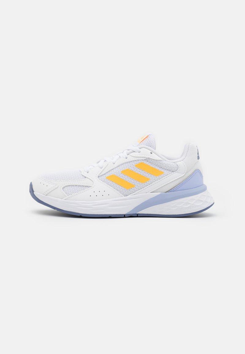 adidas Performance - RESPONSE RUN - Neutral running shoes - footwear white/solar gold/violet tone