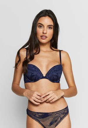 PETAL PUSH UP PLUNGE - Push-up BH - dark blue