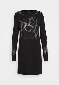 Diesel - T-ROSSINA T-SHIRT - Jersey dress - black - 4