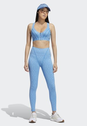 IVY PARK MESH MONOGRAM TIGHTS - Leggings - Trousers - light blue/bright blue