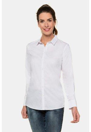 KLASSISCH - Button-down blouse - weiß
