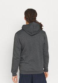adidas Performance - 3 STRIPES FLEECE FULL ZIP ESSENTIALS SPORTS TRACK JACKET HOODIE - Zip-up sweatshirt - dark grey heather - 2