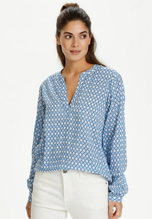 KASARY TILL - Blouse - light blue diamond print