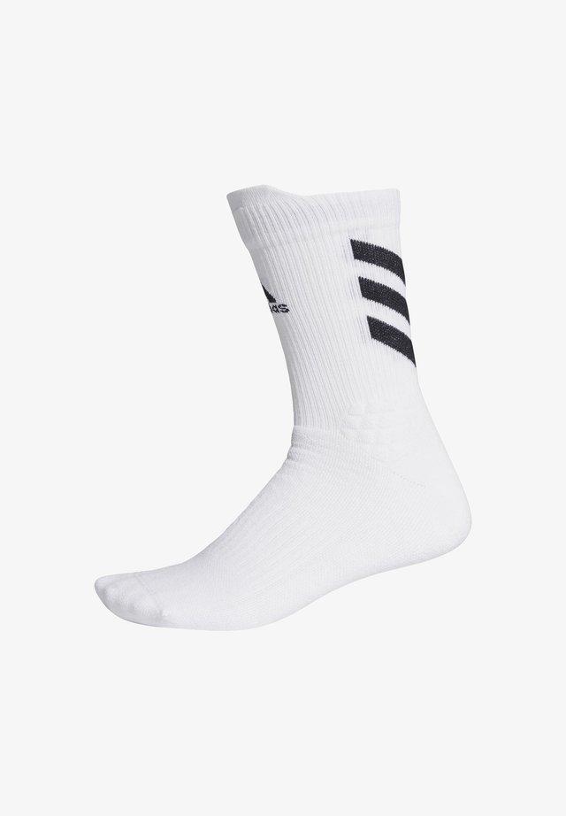 ALPHASKIN MAXIMUM CUSH PRIMEGREEN CREW - Sports socks - white