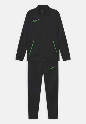 SET UNISEX - Trainingspak - black/green strike