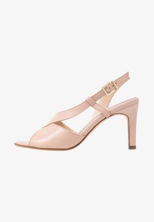 OPRAH - High heeled sandals - powder samoa